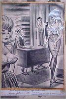 Bill Ward Conte Crayon - 2 women in Office